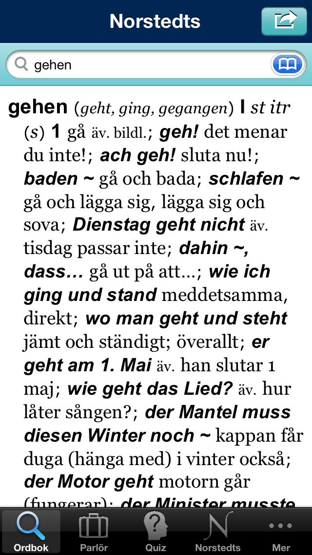 Norstedts stora tyska ordbokのおすすめ画像2