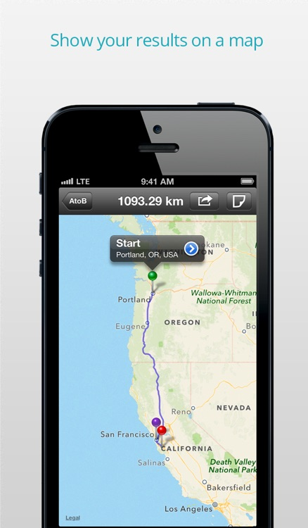 AtoB Distance Calculator PRO - easy and fast air or car route measurement from A to B for travel and more