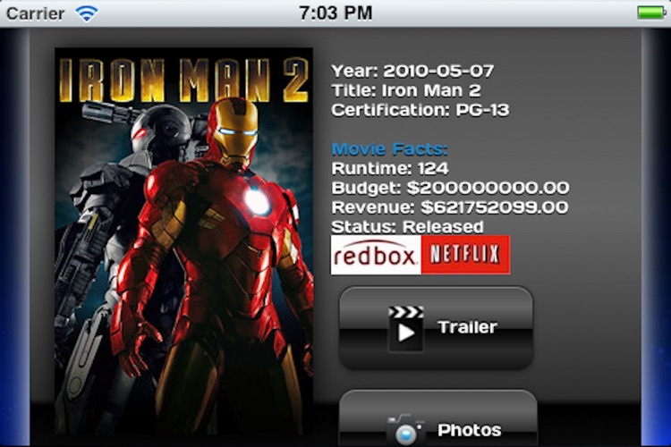 Movie Tracker for NetFlix and Redbox