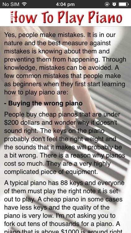 How To Play Piano screenshot-4