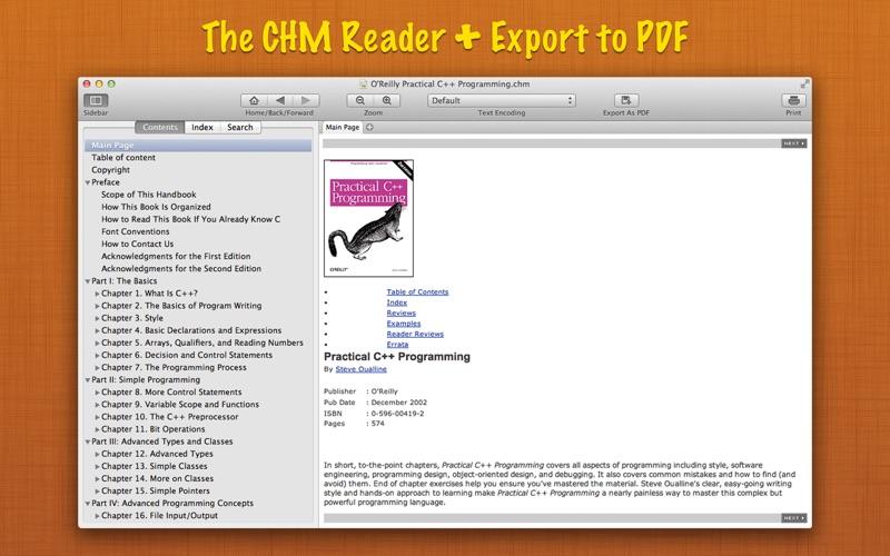 Read CHM+ : The CHM Reader + Export to PDF скриншот программы 1