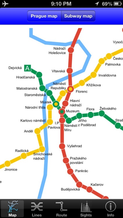 Prague Subway Guide with Offline map screenshot-1