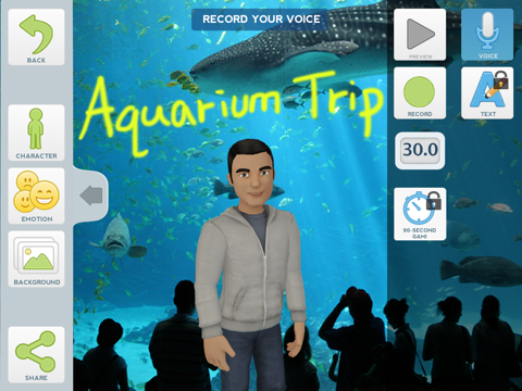 Tellagami Screenshot 3
