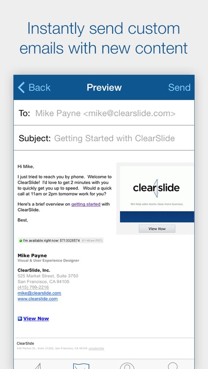 ClearSlide Connect - Track Email, Scan Business Cards, and Follow Up with Leads screenshot-4