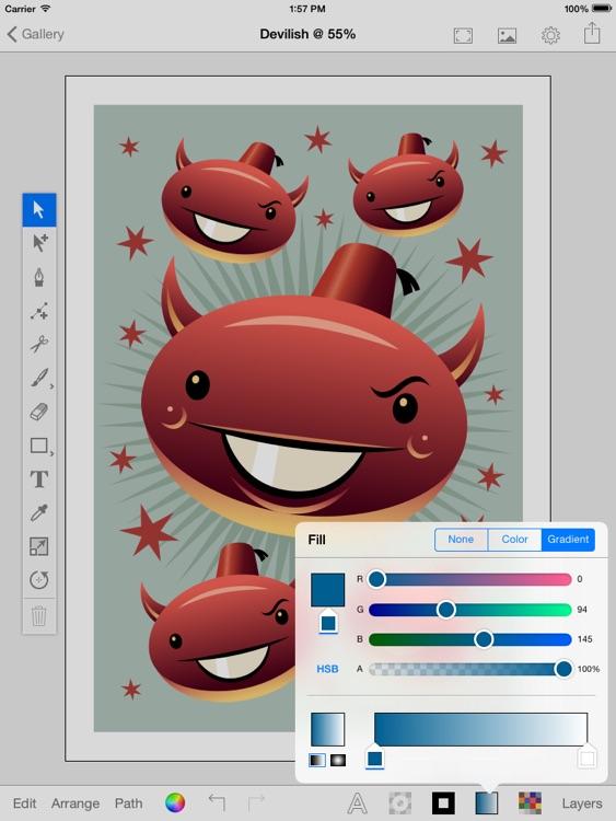 iDraw Pro: Vector illustrator for iPad