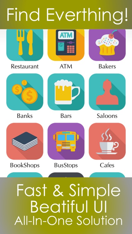 What's near me finder - The best restaurant , bars , banks , hotels , travel attractions and fast food places around you
