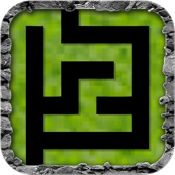 Pixel Maze Escape - Find keys to unlock doors and avoid dead end paths - Pixelated version