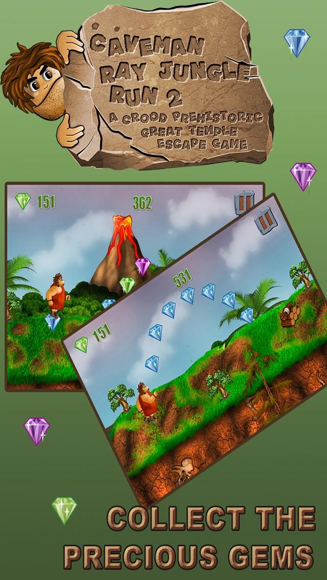 穴居人のジャングルラン:グレート恐竜脱出ゲーム - 無料版のスクリーンショット4