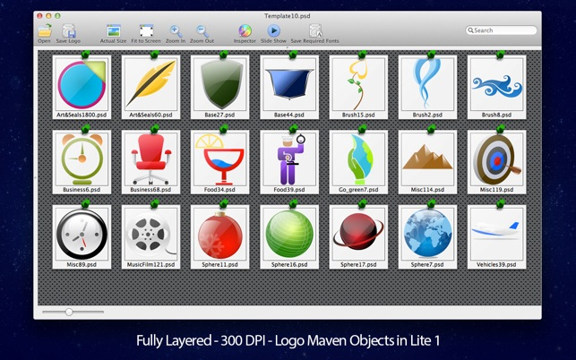Logo Templates for Adobe Photoshop with PSD Files Lite Pack Screenshot
