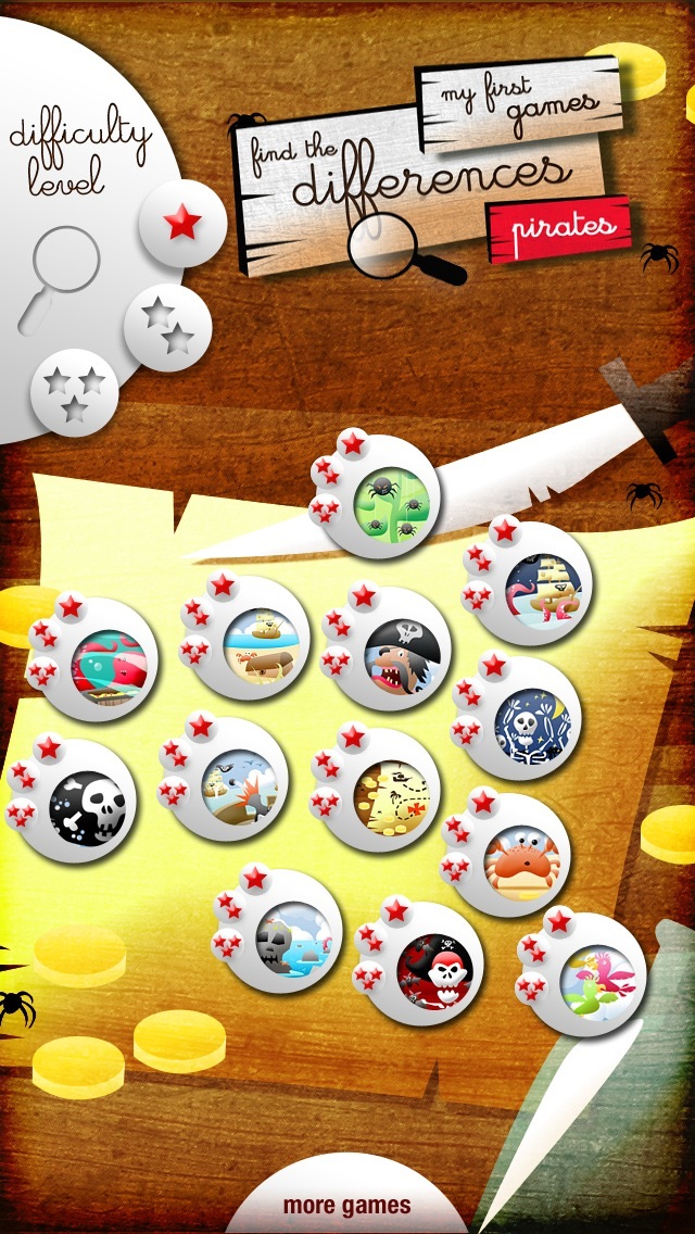 My First Find the Differences Game: Pirates - Free App for Kids and Toddlers - Games and Apps for Kid, Toddler Screenshot