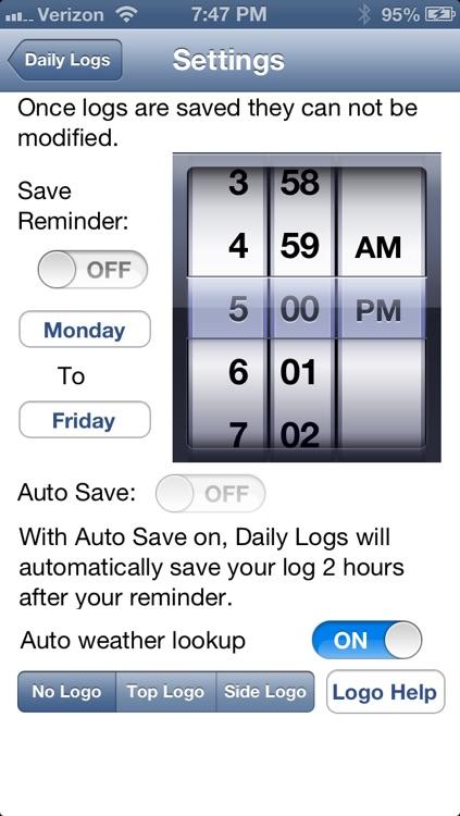 Daily Logs screenshot-3