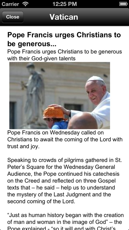 Messages from the Pope - Catolicapp.org screenshot-3