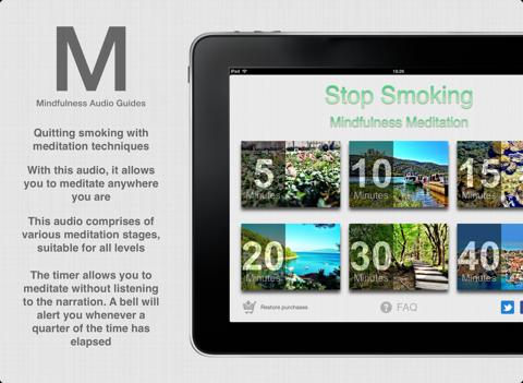 Stop Smoking - Mindfulness Meditation App to cessation smoking screenshot