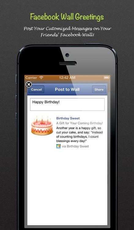 Birthday Sweet - Birthday calendar & reminder for Facebook screenshot-3