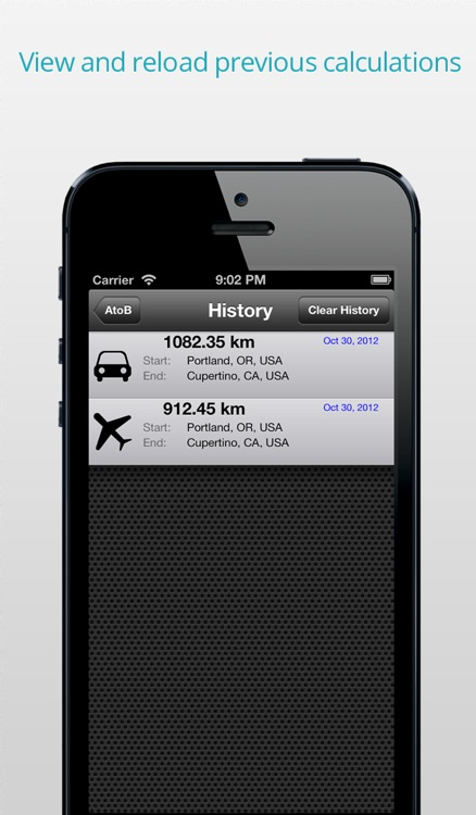 AtoB Distance Calculator PRO - easy and fast air or car route measurement from A to B for travel and more screenshot-4