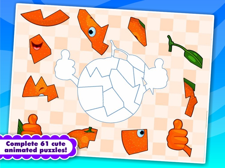 Abby Monkey® Shape Food Puzzle: First Words Learning Games for Toddlers and Preschool Explorers screenshot-3