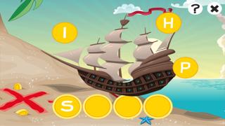 農行海盜!兒童遊戲: 學習 寫文字,並與海盜,船長,鸚鵡,百寶箱,鱷魚和船舶在海洋中的字母。免費,新,學習,幼兒園,學前班和學校!屏幕截圖2