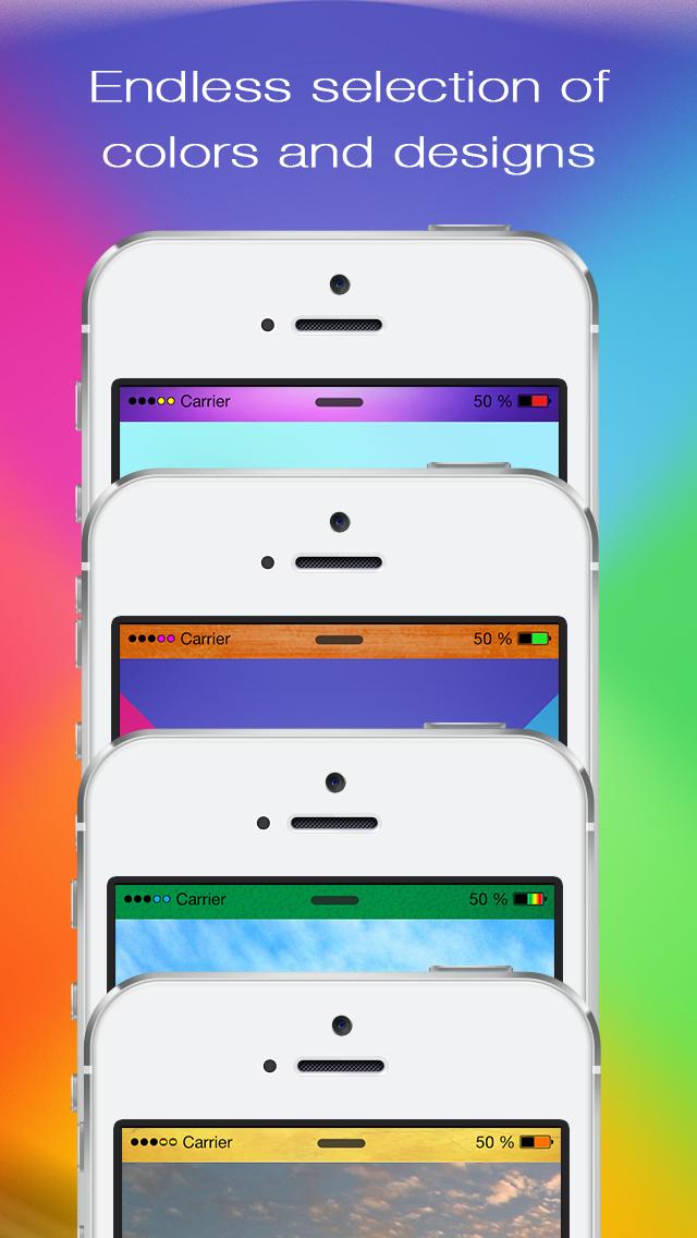 あなたの画面のロック用のカラーステータスバーの壁紙 - あなたのトップバーをポン引きのおすすめ画像2