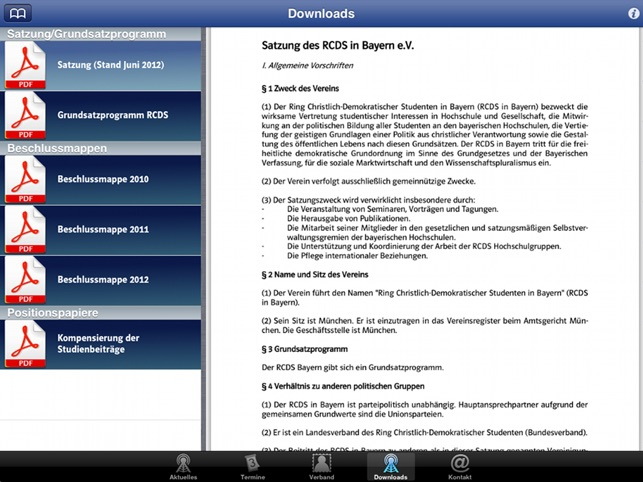 RCDS Bayern Screenshot