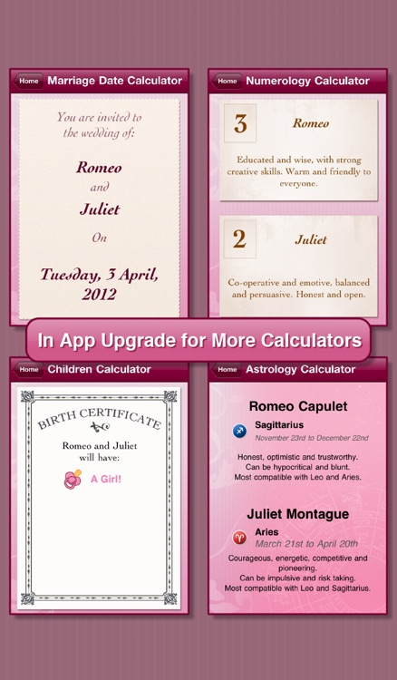 Romance Calculator Free screenshot-1