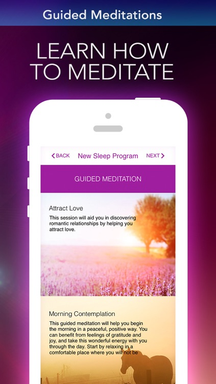 Alarm Clock Sleep Sounds Free: Guided Meditation for Relaxation Cycle, Hypnosis and insomnia screenshot-3