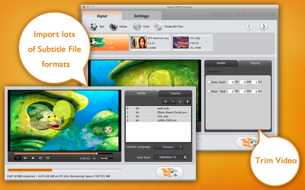 视频刻录 Smart DVD Creator 1.4.0 Mac 破解版 DVD文件刻录工具
