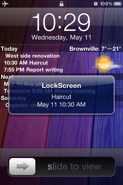 Make LockScreen (To-do List & Weather)