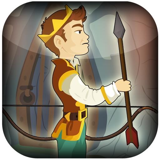 Игра-стрелялка средневекового принца с луком и стрелами - Вызов попадания в цель