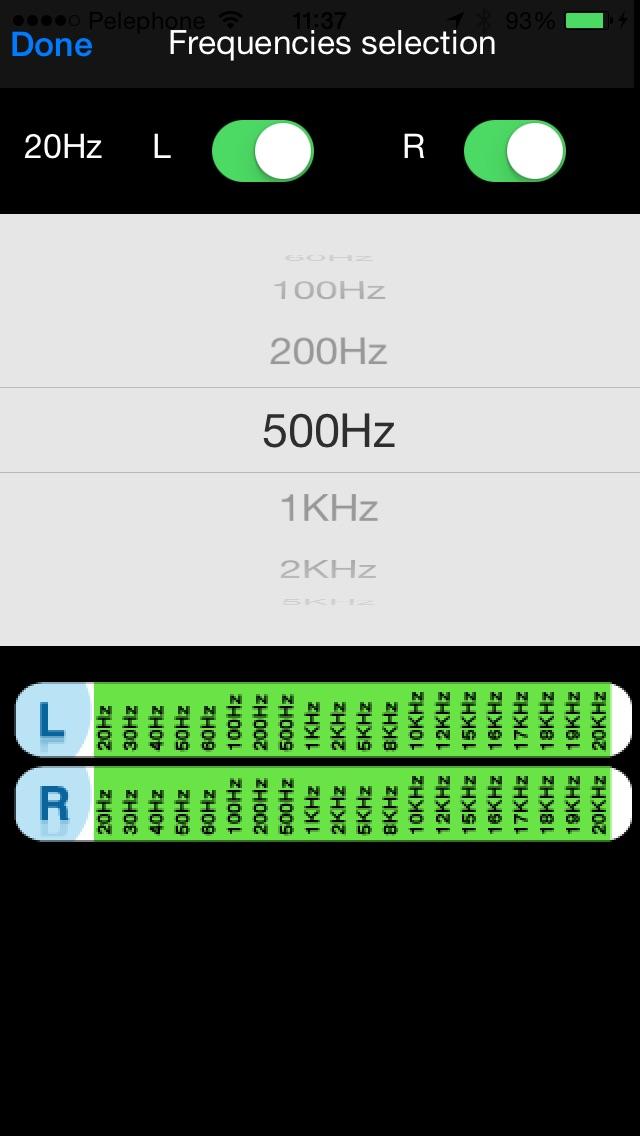 Audiometry screenshot1