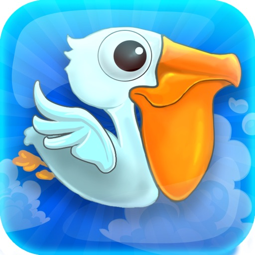A Flappy Flying : Splashy Ocean Pelican Fish Catcher Island - Free Version