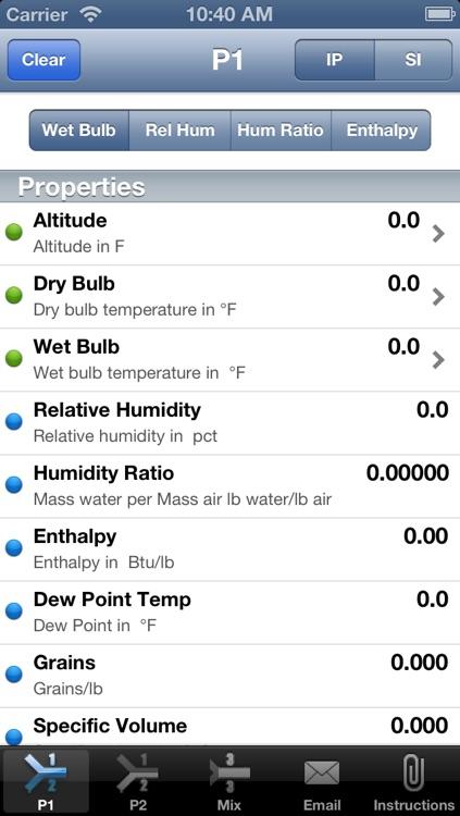 HVAC Buddy® Psychrometric