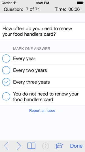 answers for food handlers test