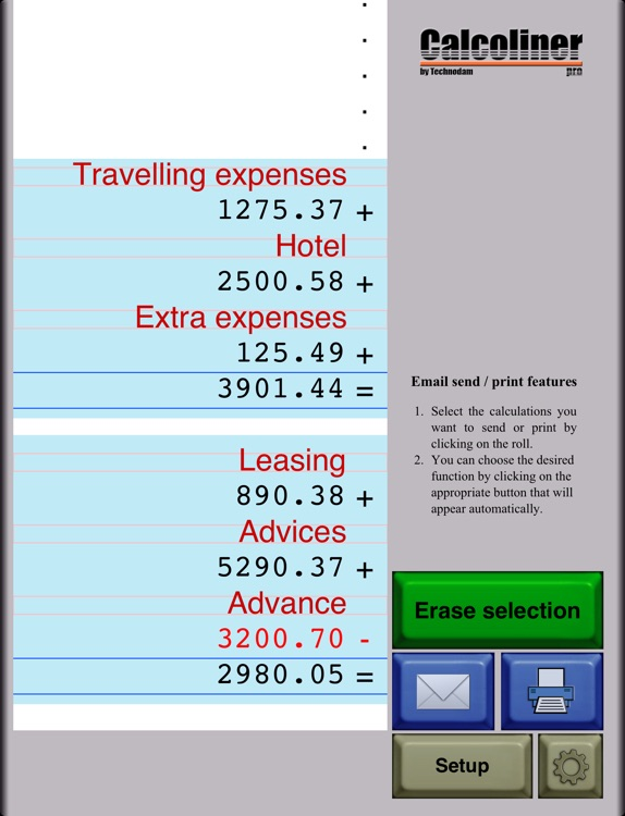 CalcolinerPro - The professional tape calculator screenshot-3