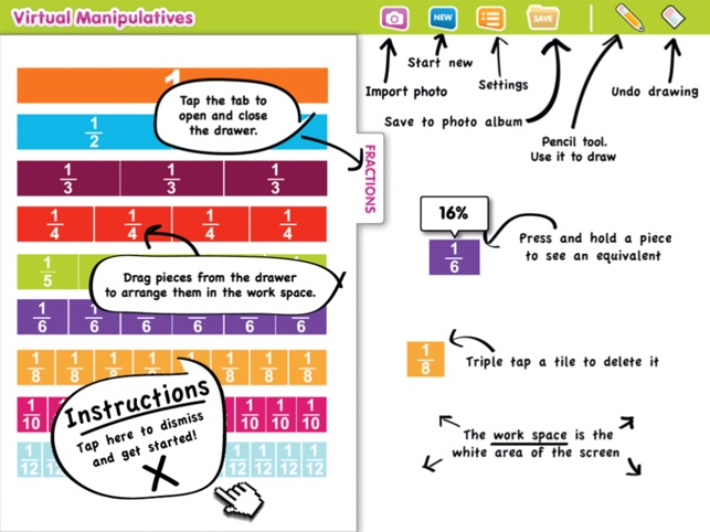 Virtual Manipulatives! Screenshot