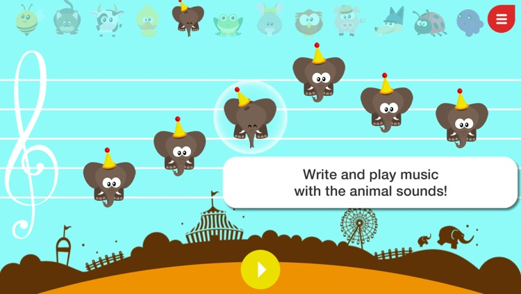 Music4Babies - Learn to read and write music with the animals screenshot-3
