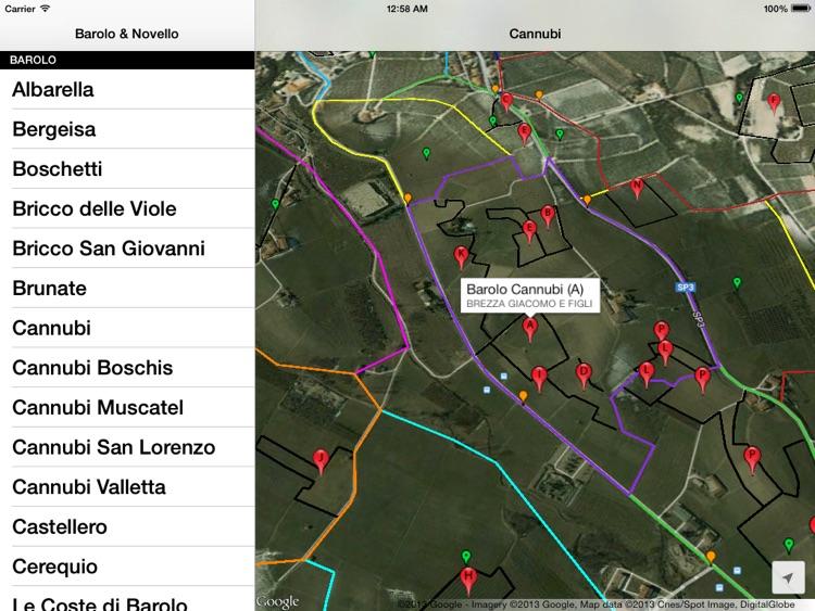 Barolo & Novello Wine Map screenshot-3