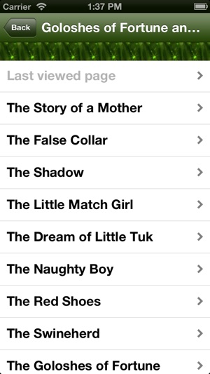 Best Hans Christian Andersen's Fairy Tales (with search) Screenshot