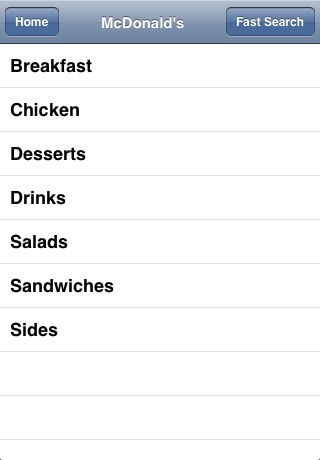 Fast Food Calorie Checker screenshot-3