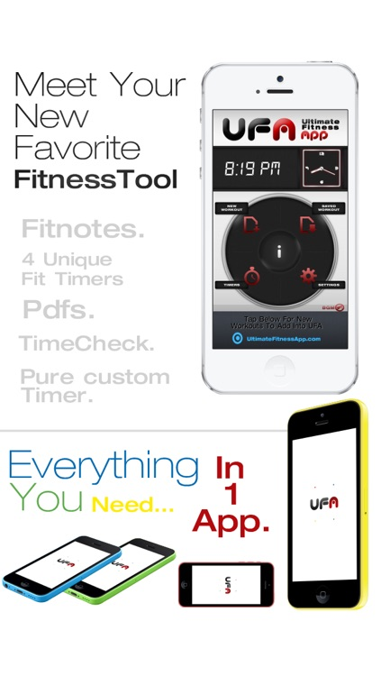 UFA - Ultimate Combo Fitness Tools App [4 Timers / Customizable Timer /Notepad & Workout Tracker, PDF Challenge Workout Reader]