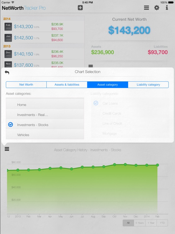 Net Worth Tracker Pro - with Asset and Liability Categories screenshot-3