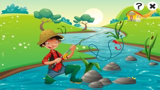 對於2-5歲的幼兒對遊戲釣魚:遊戲,拼圖和謎語的幼兒園,學前班或幼兒園。 學習 與海,水,魚,漁民和漁桿.屏幕截圖1