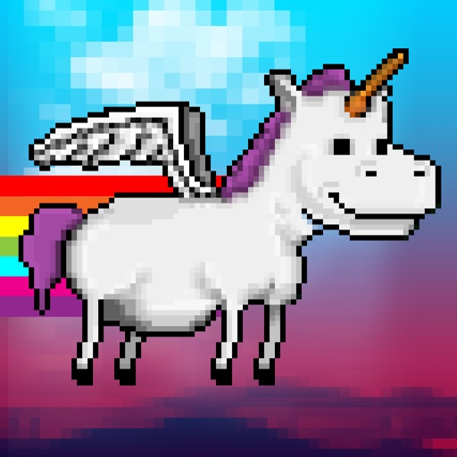 Happy Flappy Unicorn - My Fun Free Pony Flying Game