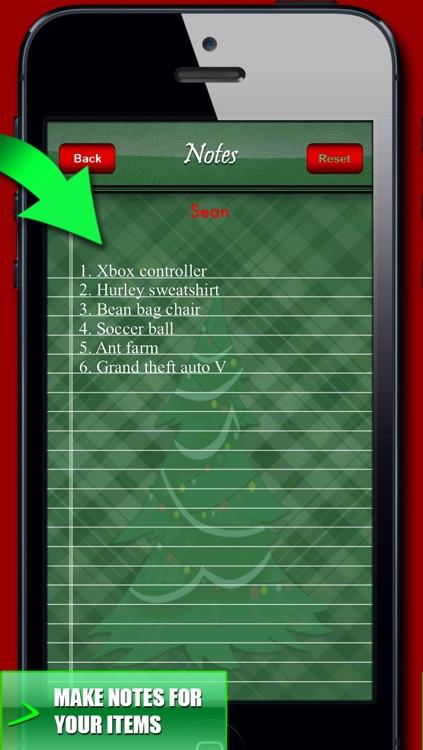 Christmas Organizer & Countdown! Checklist, Planner, Notes & Wallpaper screenshot-3