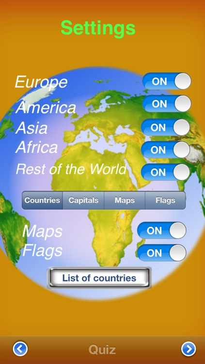 Countries & Capitals