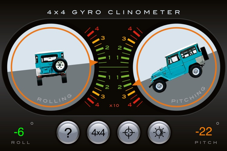 4x4 Gyroscope Clinometer