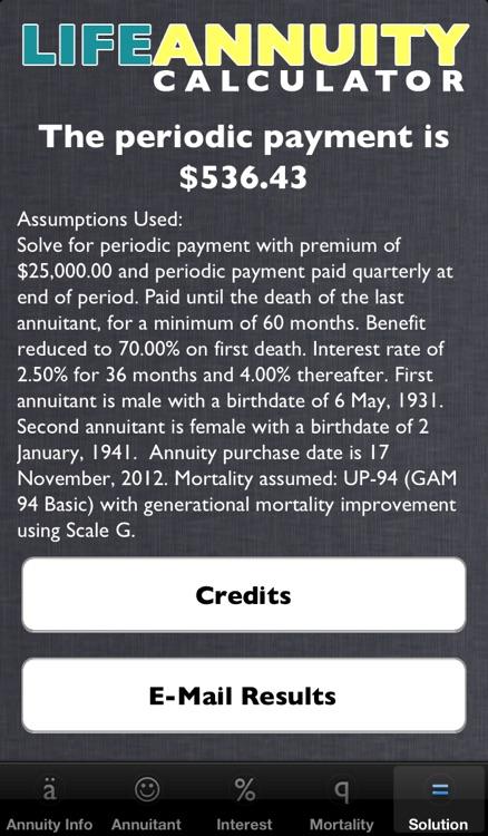 Life Annuity Calculator screenshot-4