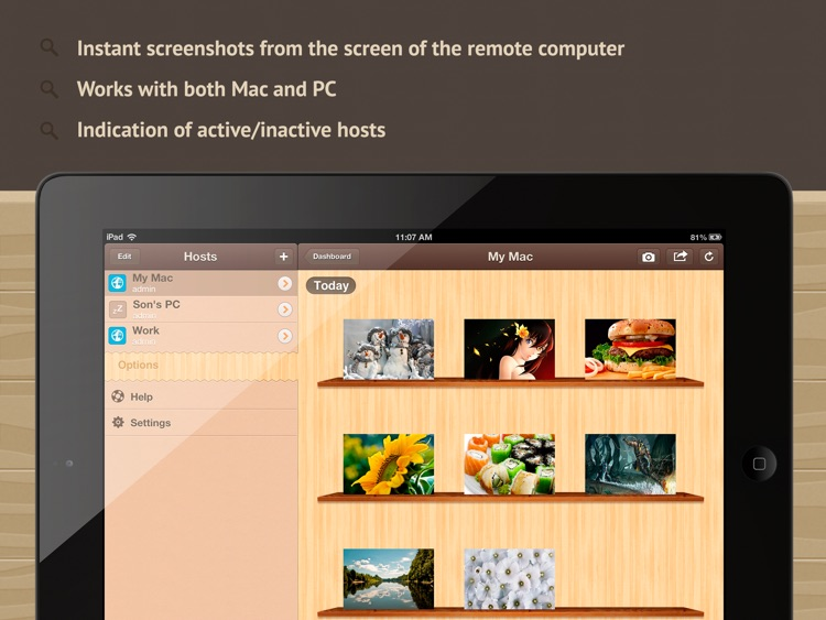 Screenshoter HD - capture screen of the remote Mac and PC