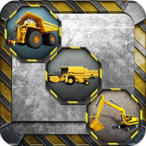 A Construction Zone Truck Match Game - Free Version