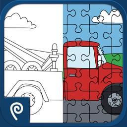 Color It Puzzle It: Trucks Lite