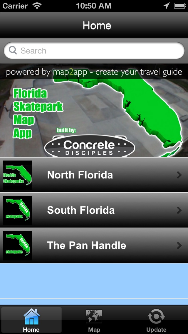 Florida Skateparks Map.Florida Skatepark Guide App Price Drops
